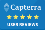 Capterra Logo, linking to user reviews