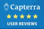 Capterra Logo, linking to user reviews