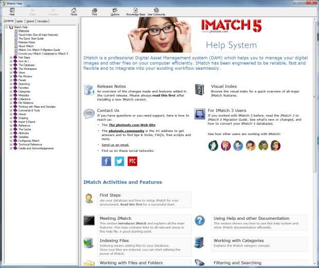 The IMatch 5 Help System
