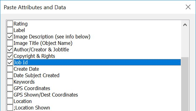 Copying Attributes and Metadata etween Files